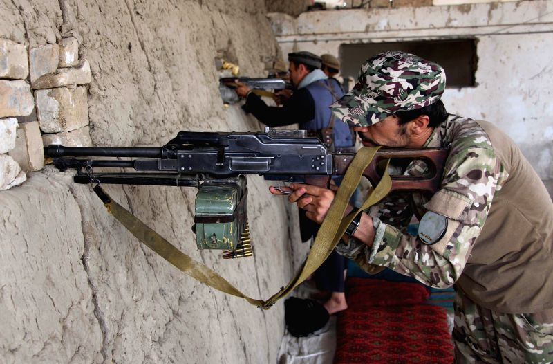 KUNDUZ, July 25, 2018 - Afghan security personnel take part in a military operation in Kunduz province, Afghanistan, July 25, 2018. Afghan security force personnel started a military operation ...