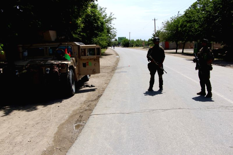 KUNDUZ, May 8, 2017 - Afghan security personnel take part in a military operation against Taliban militants in Kunduz province, Afghanistan, May 8, 2017. At least 44 persons including 40 militants ...