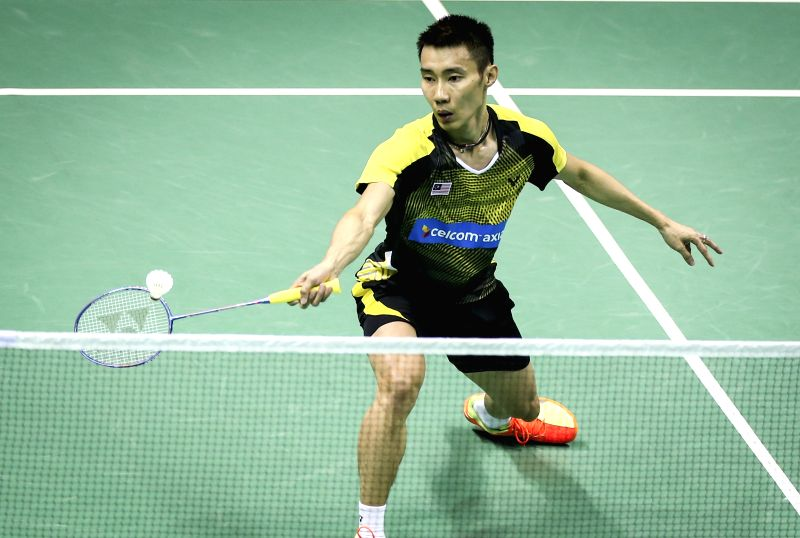KUNSHAN, May 17, 2016 - Lee Chong Wei of Malaysia competes during the the men's singles match against Son Wan Ho of South Korea in the Group C match at the Thomas Cup badminton championship in ...