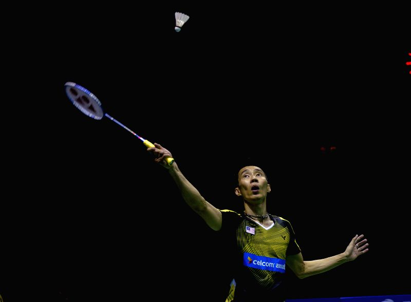 KUNSHAN, May 20, 2016 - Lee Chong Wei of Malaysia competes during the men's singles match against Viktor Axelsen of Denmark in the semifinal match at the Thomas Cup badminton championship in Kunshan, ...