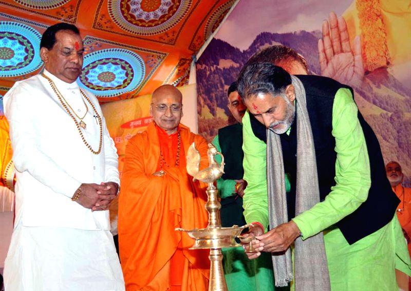 Haryana Education Minister Ram Bilas Sharma inaugurates Gita Research Centre and Library on Gita Jayanti Utsav in the premises of Jairam Vidyapeeth at Kurukshetra on Nov 26, 2014. - Ram Bilas Sharma