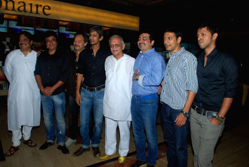 Kya Dilli Kya Lahore team during the premiere of their film in Mumbai on April 30, 2014.