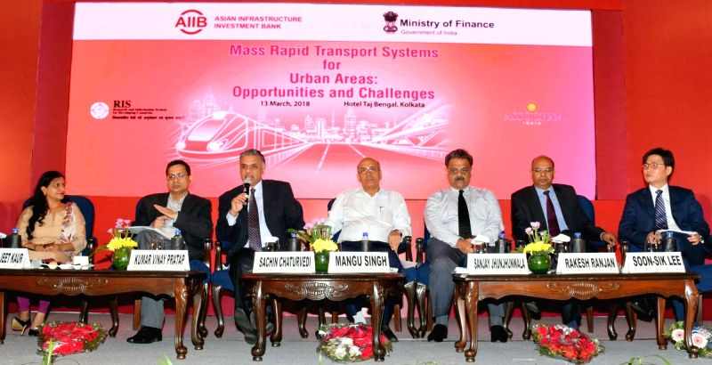 (L-R) Assocham Director (East and North East) Perminder Jeet Kaur, Ministry of Finance Joint Secretary Kumar V Pratap, RIS DG Sachin Chaturvedi, DMRC MD Mangu Singh, Assocham Chairman ... - Perminder Jeet Kaur and Mangu Singh