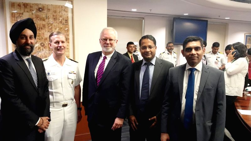(L to R) Deputy Assistant Secretary of State for South and Central Asian Affairs Manpreet Anand, US Seventh Fleet Commander Vice Admiral ADM Joseph P Aucoin, Assistant Secretary of Defense ...