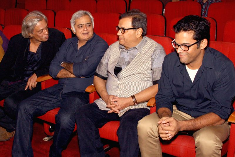 (L to R) Directors Sudhir Mishra, Hansal Mehta, Subhash Ghai and Vikramaditya Motwane at the inanugural of 5th Jagran Film Festival, in New Delhi on July 5, 2014. - Sudhir Mishra and Hansal Mehta