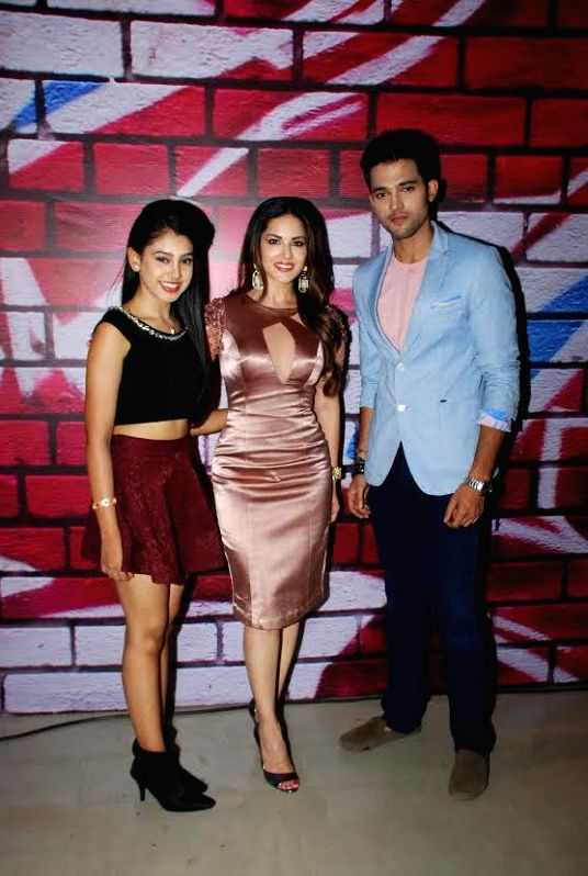 L to R - Niti Taylor, Sunny Leone and Parth Samthaan