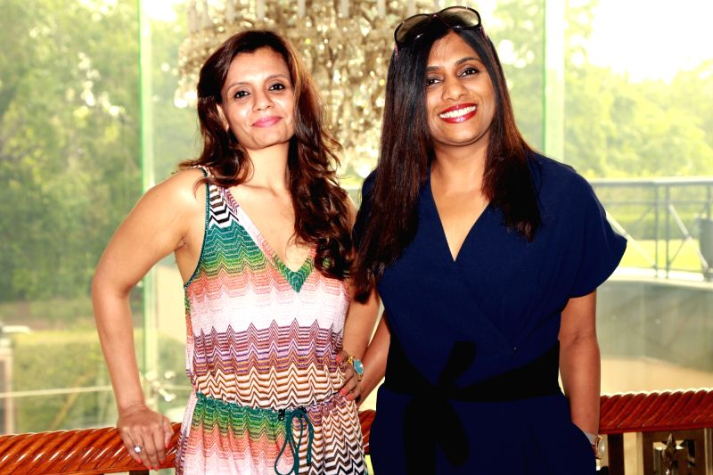 "(L to R) Producer Priti Gupta and director Anuradha Menon during a press meet to promote their film ""Waiting"" in New Delhi, on May 27, 2016. - Anuradha Menon and Priti Gupta"