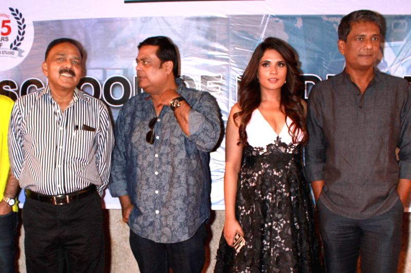 (L to R) Social activist and founder of the NGO Prayas Amod Kanth -investigating officer for the notorious Charles Sobhraj case -, actors Richa Chadda and Adil Hussain during a press ... - Richa Chadda and Adil Hussain