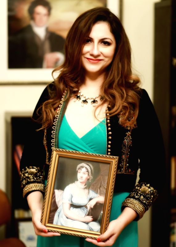 """Laaleen Sukhera, the prime mover of """"Austenistan"""", with her literary idol and mainstay"""