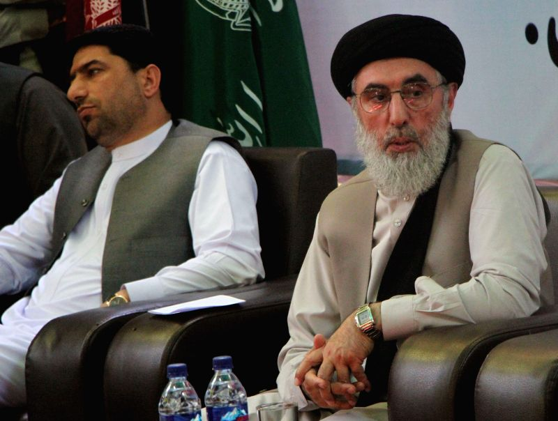 LAGHMAN, April 29 Gulbuddin Hekmatyar (R), leader of Hizb-e-Islami of Afghanistan, attends an event in Laghman, eastern province of Afghanistan, April 29, 2017. Former Afghan warlord and ...