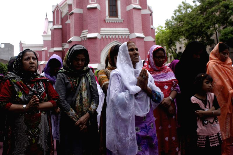 Pakistani Christians attend Good Friday service at the Saint Anthony Church in eastern Pakistan's Lahore on April 18, 2014. Thousands of Christian around the world .