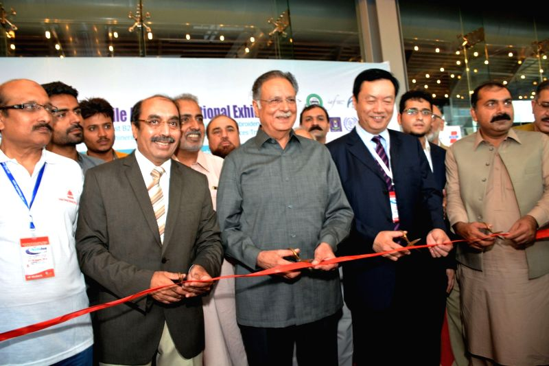 LAHORE, Aug. 27, 2016 - Pakistani Information Minister Pervaiz Rasheed (C) inaugurates the 16th International Textile Asia Exhibition in eastern Pakistan?s Lahore on Aug. 27, 2016. The three-day ... - Pervaiz Rasheed