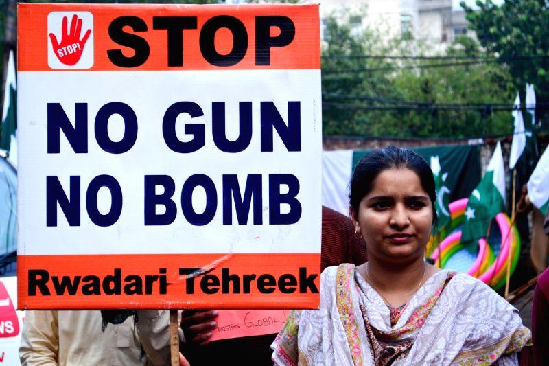 PAKISTAN-LAHORE-BLAST-PROTEST