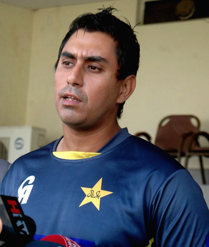 Pakistan cricketer Nasir Jamshed speaks during a press conference in eastern Pakistan's Lahore, Feb. 9, 2015. Ali and Jamshed left for Australia later on Monday to ... - Junaid Khan