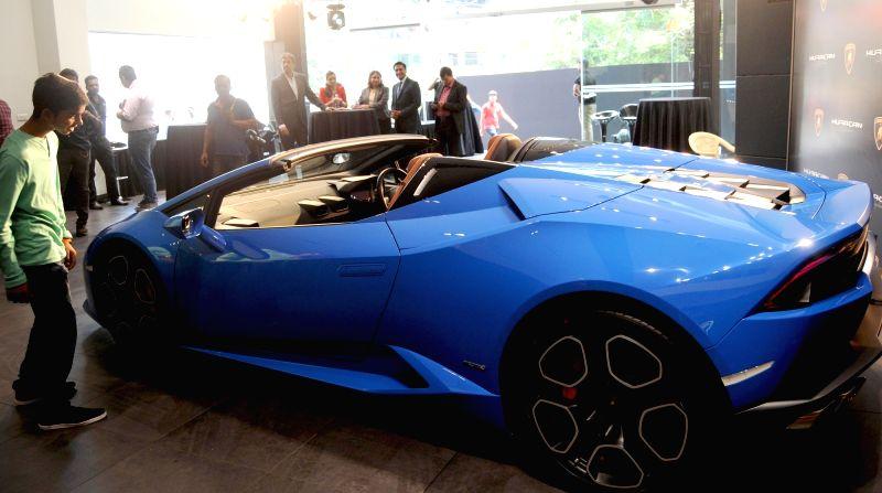 Lamborghini Huracan LP 610-4 Spyder launched in Bengaluru, on May 13, 2016.