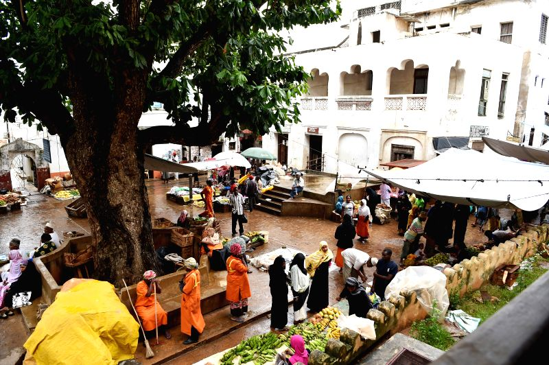 LAMU, May 8, 2017 - Photo taken on July 10, 2015 shows an open market in Lamu town, Kenya. In 2001, Lamu Old Town was designated as a UNESCO World Heritage site for its cultural ...