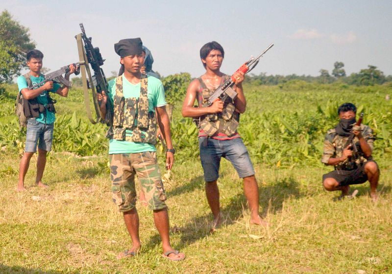 Large number of NDFB (S) cadres heavily armed with AK weapons appear from the nearby jungles under their Area Commander Jwblang after security forces killed Lakiprasad Basumatary @ B. Laijam of ...