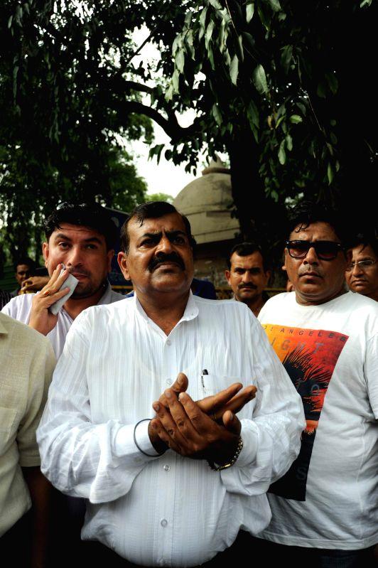 Late MP Phoolan Devi's husband Umaid Singh at Patiala House Court in New Delhi on Aug 8, 2014. - Umaid Singh