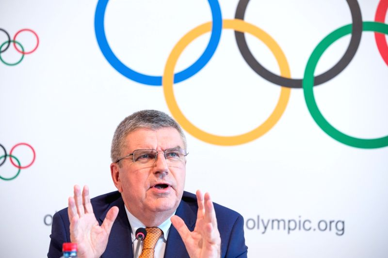 LAUSANNE, June 10, 2017 - International Olympic Committee (IOC) President Thomas Bach attends a press conference after an IOC executive board meeting in Lausanne, Switzerland, June 9, 2017. The host ...