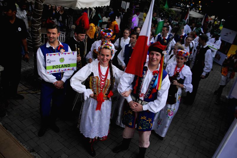 Artists from Poland participate in the third edition of  Worldfest 2014 organised at Lavasa, near Pune, on Dec 17, 2014.
