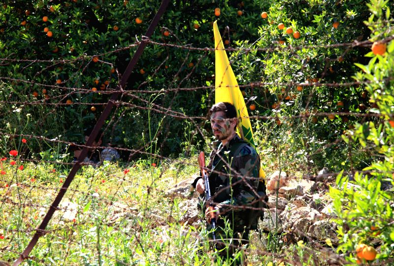 LEBANESE-A member of Lebanese militant party Hezbollah is seen at the Lebanese-Israeli borders, in Lebanon on April 20, 2017. The Lebanese militant party ...