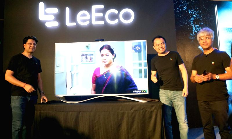 LeEco launches Le TV Super 3 Series in New Delhi, on Aug 4, 2016.