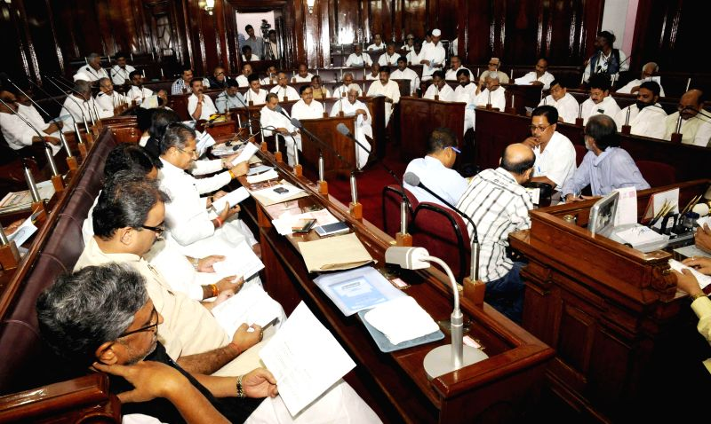 Legislators during a session of Bihar Legislative Council in Patna on June 27, 2014.