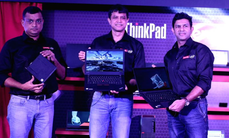 "Lenovo India Managing Director and CEO Rahul Agarwal at the launch of ""Think"" products in New Delhi, on June 6, 2017."