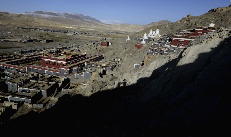 Photo taken on April 30, 2014 shows the Sagya Monastery in Sagya County, southwest China's Tibet Autonomous Region. Built in 1073, the Sagya Monastery has long enjoyed .