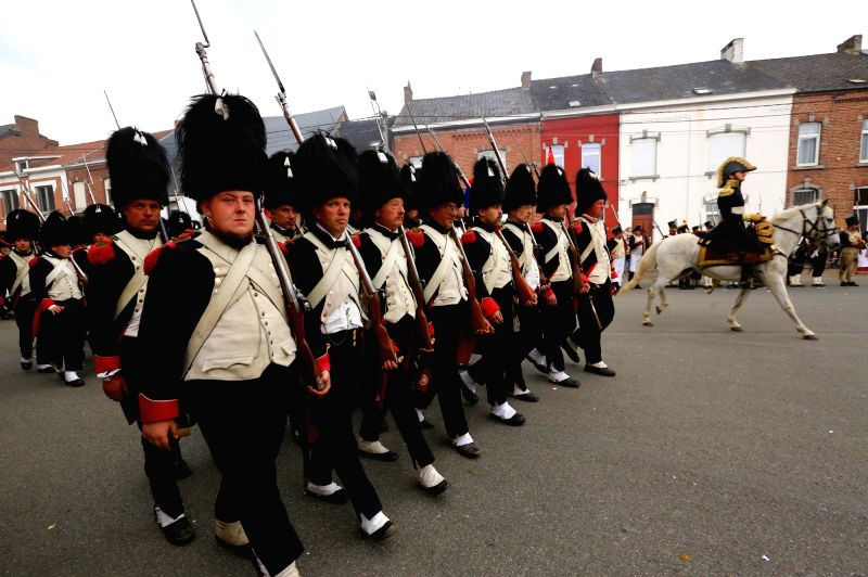LIGNY, June 4, 2017 - Participants take part in the re-enactment of the Battle of Ligny, in Ligny, Belgium, June 3, 2017. The Battle of Ligny took place on June 16, 1815, and was the final victory in ...