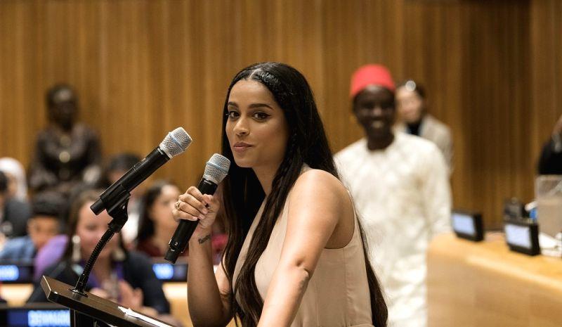 Lilly Singh. (Photo: UN)(Image Source: IANS News)