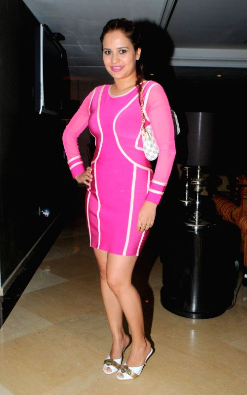Lisa Malik during the launch of Dilbagh Singh`s music album The Victorian Secrets in Mumbai on July 21, 2014. - Malik and Dilbagh Singh