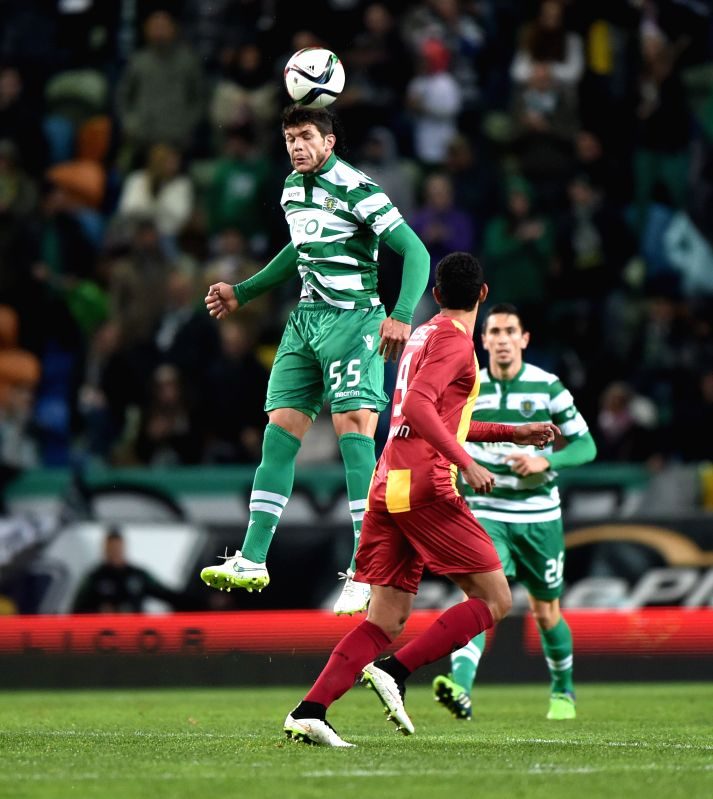 A player of Sporting Lisbon competes during a match with Rio Ave at the 2014/15 season Portuguese league in Lisbon Jan.18, 2015. Sporting Lisbon won 4-2. ...