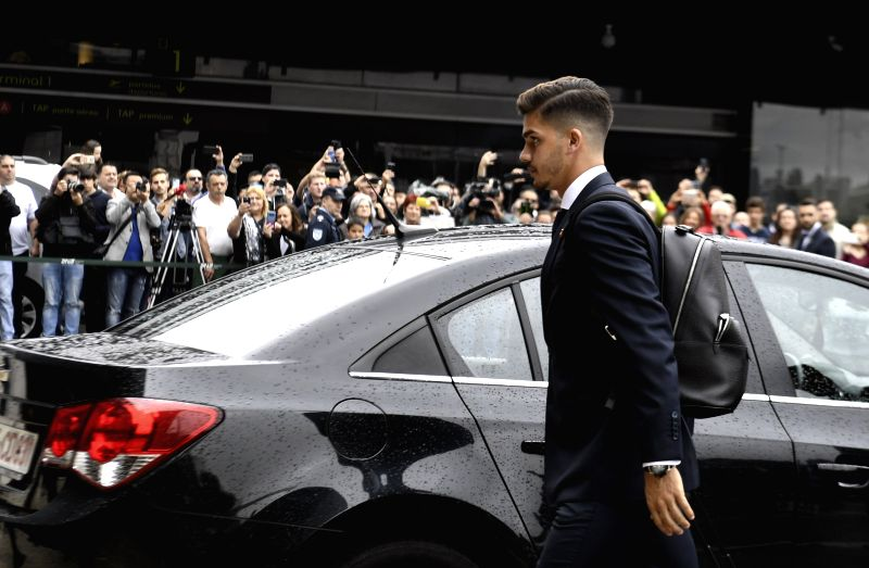 LISBON, June 9, 2018 - Portugal's national football team player Andre Silva arrives at airport before departing to Russia for the FIFA World Cup 2018 in Lisbon, Portugal, June 9, 2018.