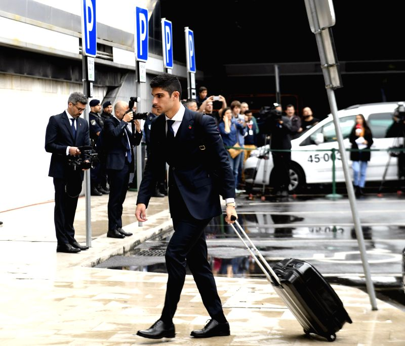LISBON, June 9, 2018 - Portugal's national football team player Goncalo Guedes arrives at airport before departing to Russia for the FIFA World Cup 2018 in Lisbon, Portugal, June 9, 2018.