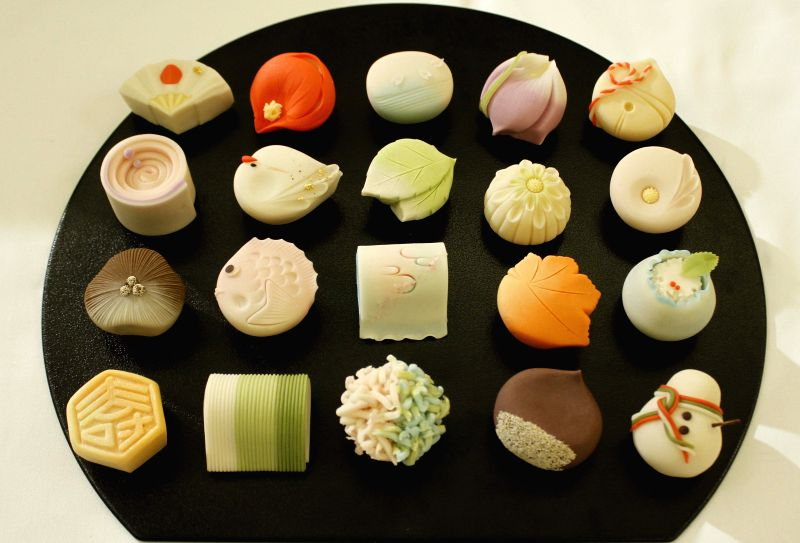 Live demonstration of preparation of traditional Japanese sweets at Oberoi Grand Hotel in Kolkata on Feb. 7. (Photo: IANS)(Image Source: IANS News)