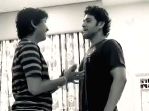 Lockdown diaries: Mahesh Babu plays 'who is taller' with son.