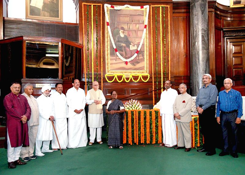 Lok Sabha Deputy Speaker, Dr. Munisamy Thambidurai, Union Minister for Urban Development, Housing and Urban Poverty Alleviation and Parliamentary Affairs, M. Venkaiah Naidu, senior BJP MP Lal Krishna - M. Venkaiah Naidu and Lal Krishna Advani