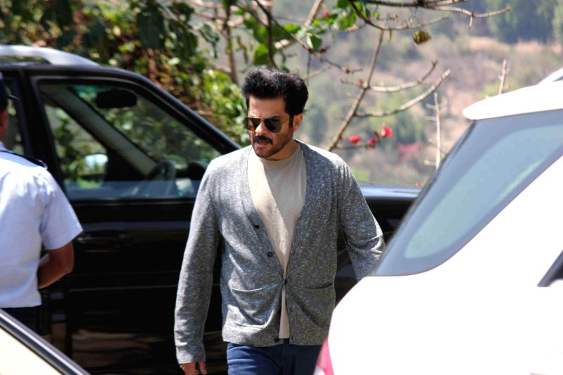 Actor Anil Kapoor returns after attending Aamir Khan`s 50th birthday party in Lonavala on March 15, 2015. - Anil Kapoor