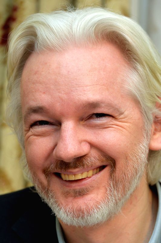 WikiLeaks founder Julian Assange attends a press conference at the Ecuadorian Embassy in London, Britain, Aug. 18, 2014. WikiLeaks founder Julian Assange said on ...