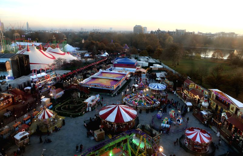 London (Britain): Photo taken on Nov. 24, 2014 shows Hyde Park Winter Wonderland in London, Britain.