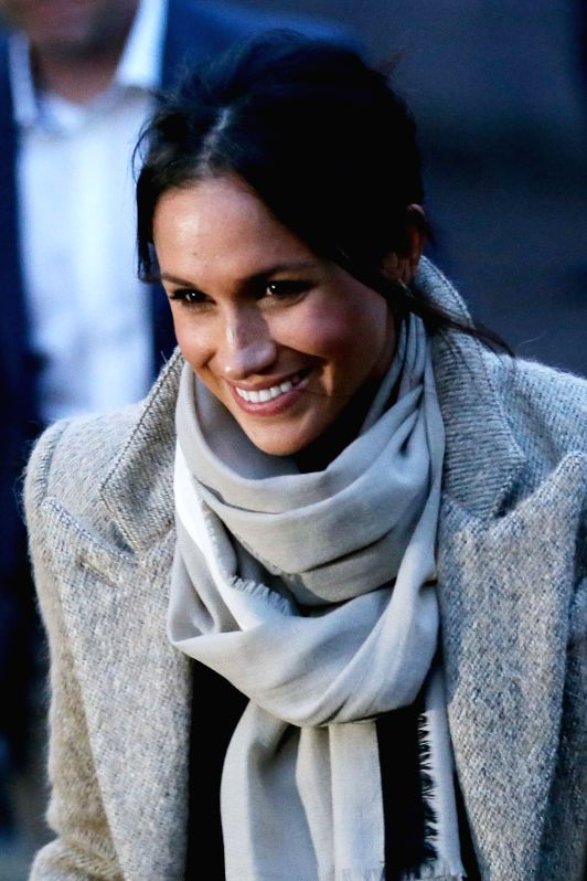 LONDON, Jan. 9, 2018 (Xinhua) -- Meghan Markle leaves after a visit to Reprezent Radio at Pop Brixton in London, Britain, on Jan. 9, 2018. Prince Harry and Meghan Markle are to marry in a ceremony at Windsor castle on May 19. (Xinhua/Tim Ireland/IANS