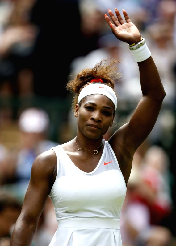 Serena Williams During The Ladie S Singles First Round