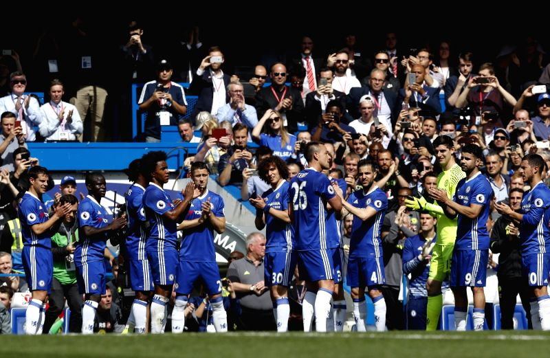 LONDON, May 22, 2017 - Chelsea's Captain John Terry is substituted during the English Premier League match between Chelsea and Sunderland at the Stamford Bridge Stadium in London, Britain on May 21, ... - John Terry