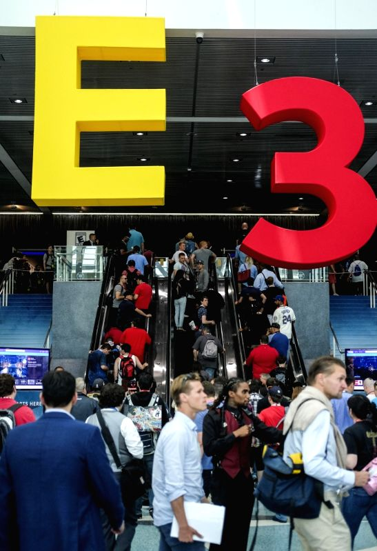 LOS ANGELES, June 14, 2017 - Visitors enter to visit the Electronic and Entertainment Expo (E3) at the Convention Center in Los Angeles, the United States, on June 13, 2017.