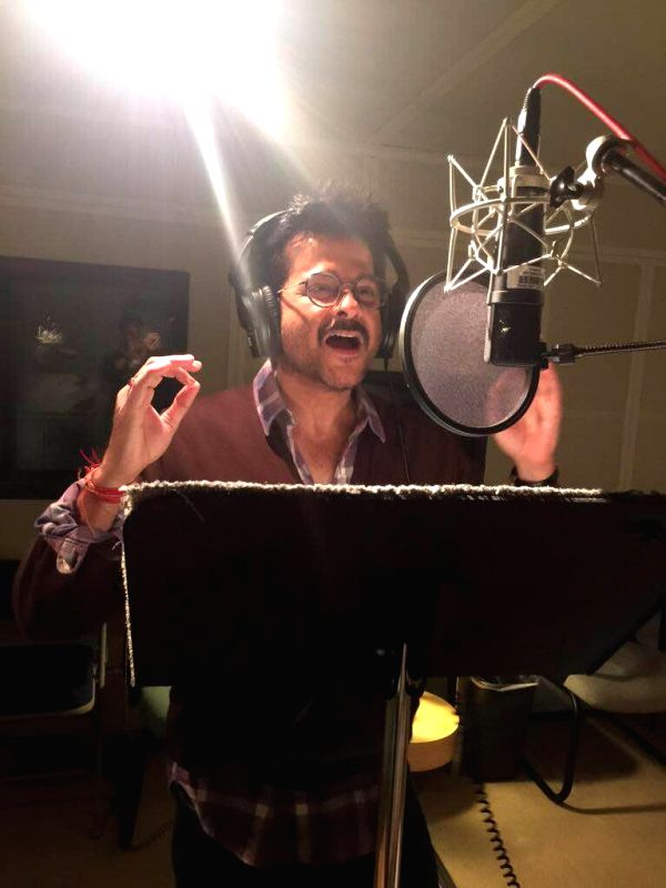 Los Angeles (US): Actor Anil Kapoor dubs for Seth MacFarlane`s American adult sitcom `Family Guy` at the Fox Star Studios in Los Angeles, US.