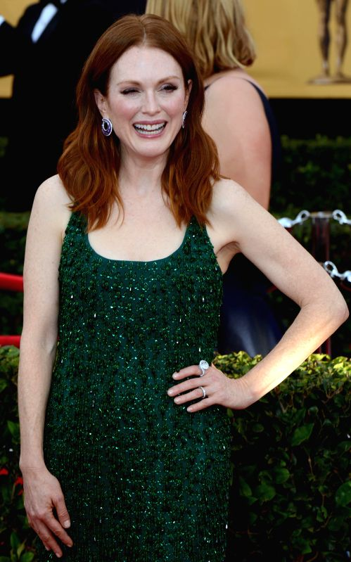 Los Angeles (US): ctress Julianne Moore at the  American Actors Guild Awards held at the Shrine Auditorium in Los Angeles, US on Jan 26, 2015.