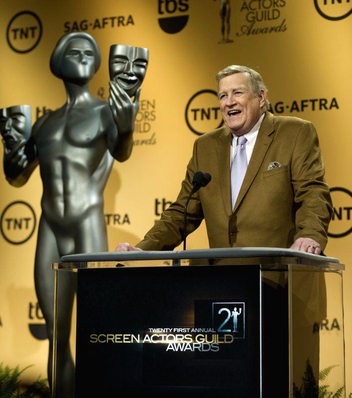 Los Angeles (US): Screen Actors Guild (SAG) Awards President Ken Howard speaks at the announcement of nominees for the 21st SAG Awards in Los Angeles, the United States, Dec. 10, 2014. (Xinhua/Yang .. - Guild