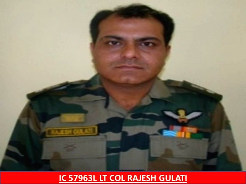 Lt Col Rajesh Gulati, who was killed in a Advanced Light Helicopter (ALH) Dhruv crash that took place in a forest in Bandipore district of Jammu and Kashmir Wednesday (11th Feb 2015) evening. (File ..