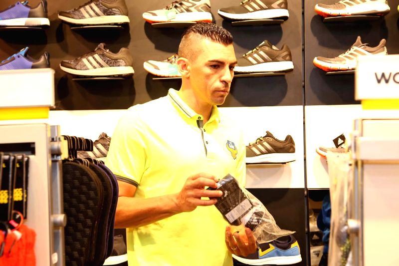Lucio at the adidas store